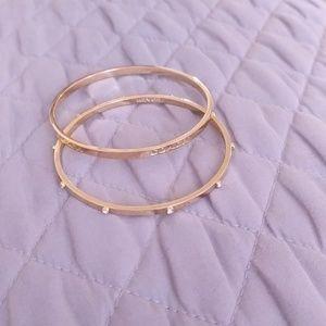 2 gold plated bangle bracelets